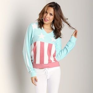 Never Worn Wildfox American Flag Design Sweatshirt